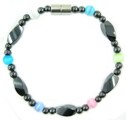 Bright Eyes - Hematite Magnetic Therapy Bracelet (MHB-279) - DISCONTINUED