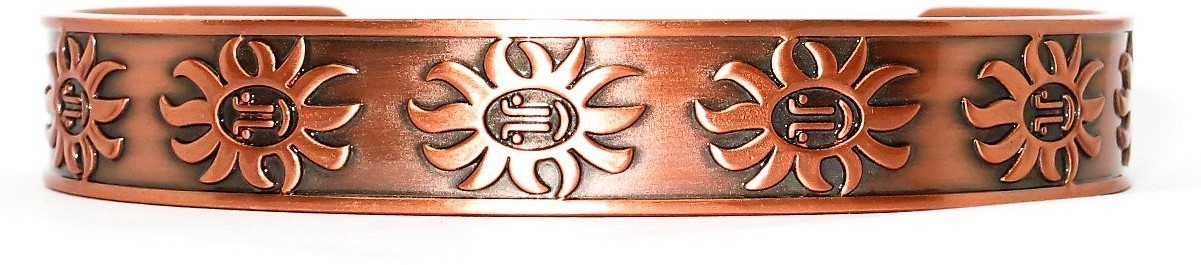 """Sunny Day"" -  Solid Copper Magnetic Therapy Bracelet"