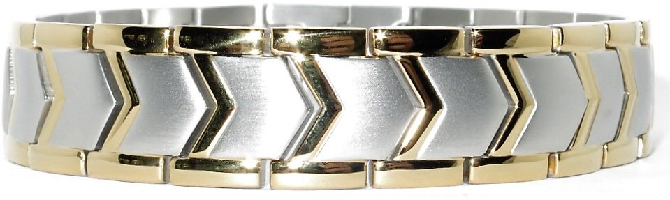 Golden Arrows  - Stainless Steel Magnetic Therapy Bracelet