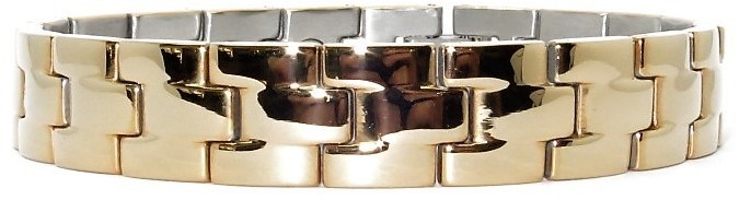 Golden Blocks  - Stainless Steel Magnetic Therapy Bracelet