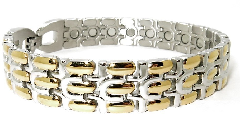 Golden Drops - Stainless Steel Magnetic Therapy Bracelet