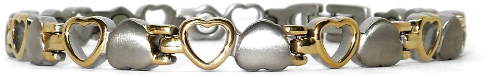 Opposites Attract - Pure Titanium Magnetic Therapy Bracelet