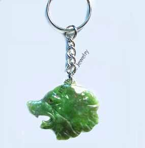 Jade Bear Head Keychain - DISCONTINUED