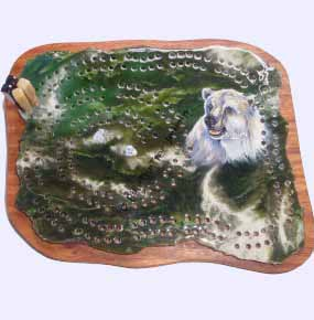Jade Bear Cribbage Board - DISCONTINUED