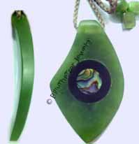 Jade Abstract Pendant (HNW-3368-1) - DISCONTINUED