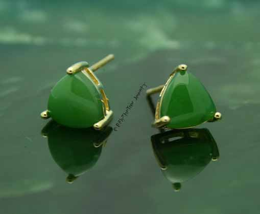 Polar Collection Jade Stud Earrings (E0589)