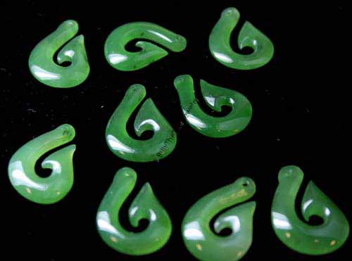Jade Fish Hook Pendant (1293-p)