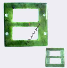 Jade Light Switch Plate - Double modern