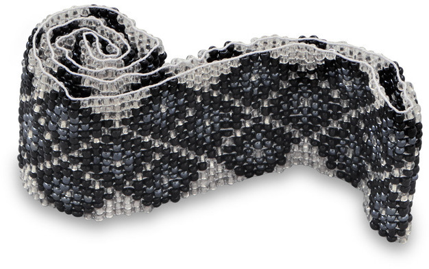 Black and White Diamond Pattern Stretch Fashion Headband