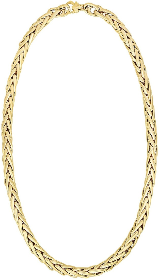 "Phillip Gavriel - 18"" 14K Yellow Gold Round Weave Necklace w/ Lobster Clasp"