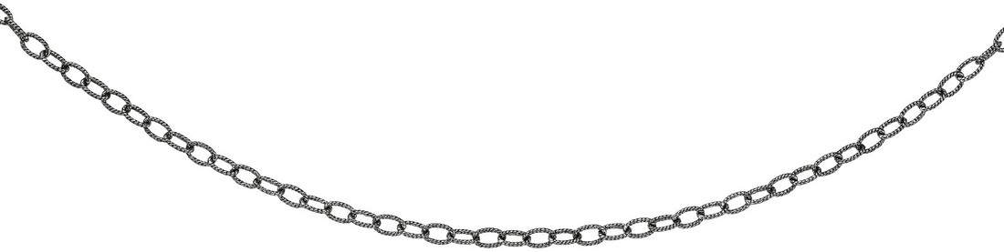"Phillip Gavriel - 16"" 2.4mm Rhodium Plated Sterling Silver Popcorn Necklace w/ Lobster Clasp"