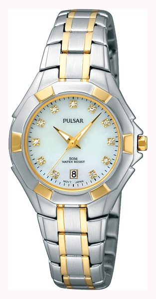Pulsar Swarovski Crystal PH7240 - Quartz Pulsar Watch (Womens) - DISCONTINUED