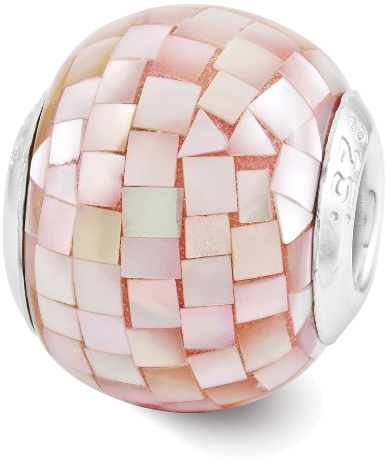 Sterling Silver Reflections Pink Mother of Pearl Mosaic Bead QRS3197 - DISCONTINUED