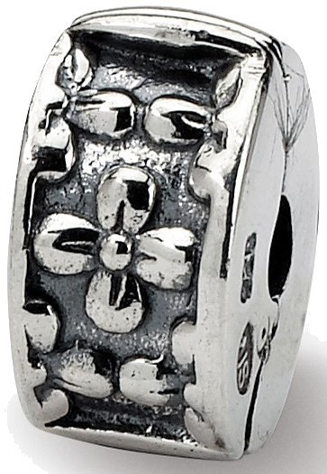 Sterling Silver Reflections Kids Floral Clip Bead QRS716