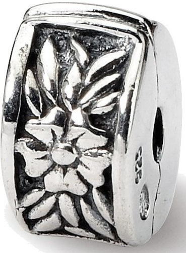Sterling Silver Reflections Kids Floral Clip Bead QRS718