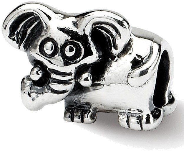 Sterling Silver Reflections Kids Elephant Bead QRS745
