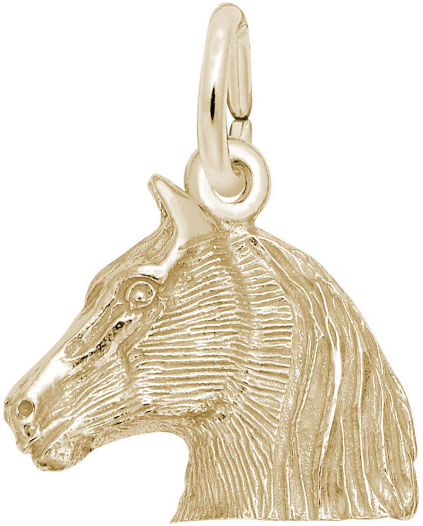 Horse Head Charm (Choose Metal) by Rembrandt