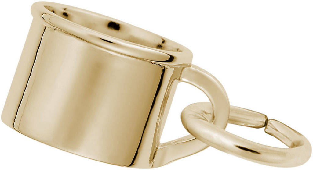 Adorable Baby Cup Charm (Choose Metal) by Rembrandt