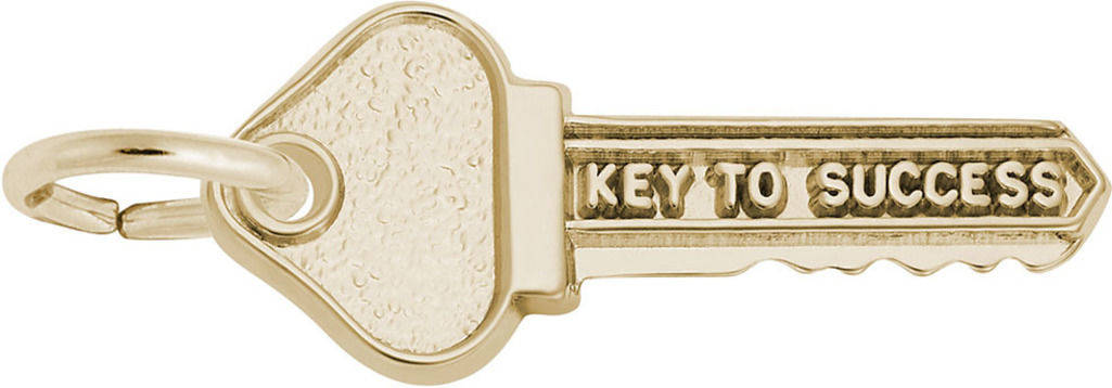 Key To Success Charm (Choose Metal) by Rembrandt