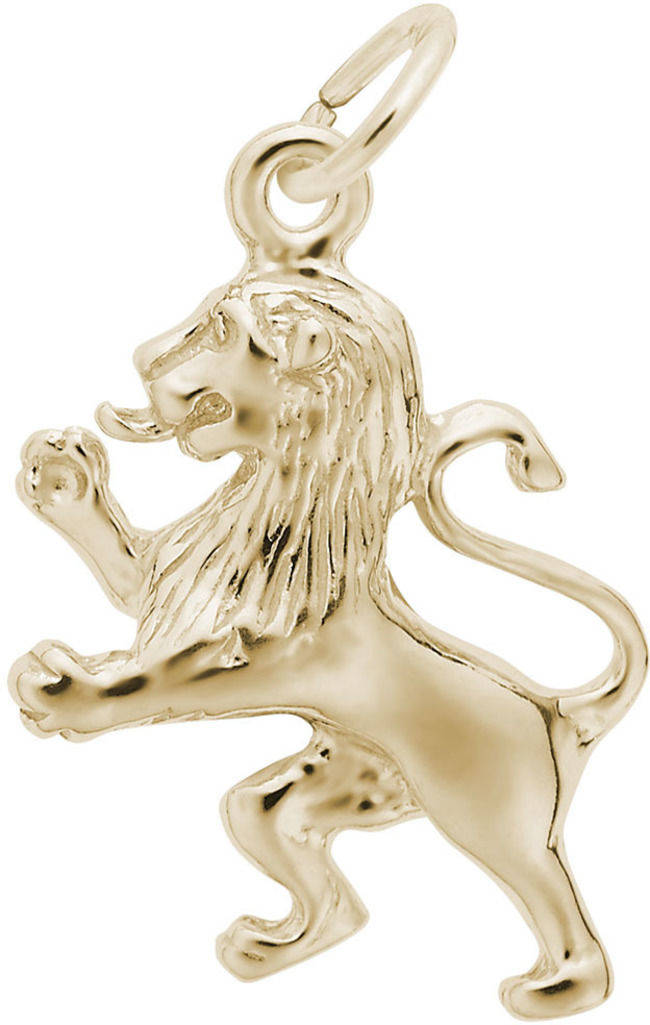 Ramped Lion Charm (Choose Metal) by Rembrandt