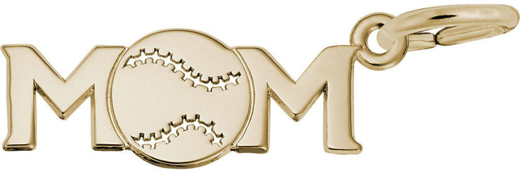 Baseball Mom Charm (Choose Metal) by Rembrandt