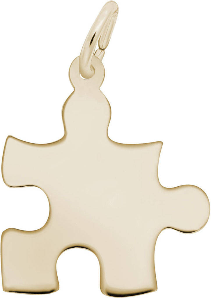 Puzzle Piece Charm (Choose Metal) by Rembrandt