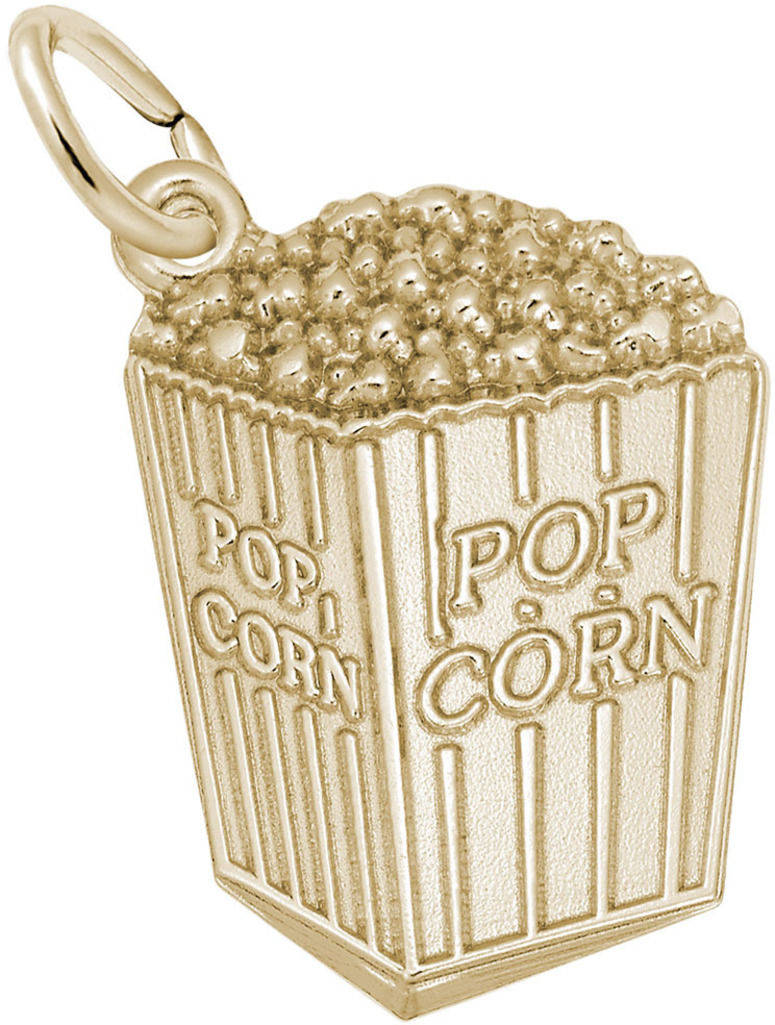 Popcorn Charm (Choose Metal) by Rembrandt