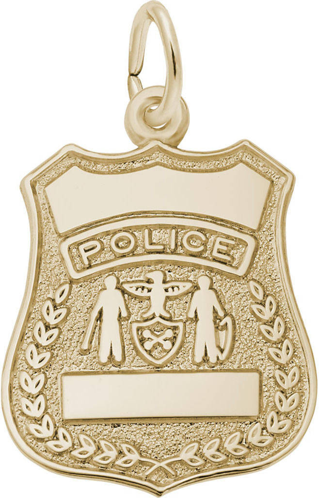 Police Badge Charm (Choose Metal) by Rembrandt
