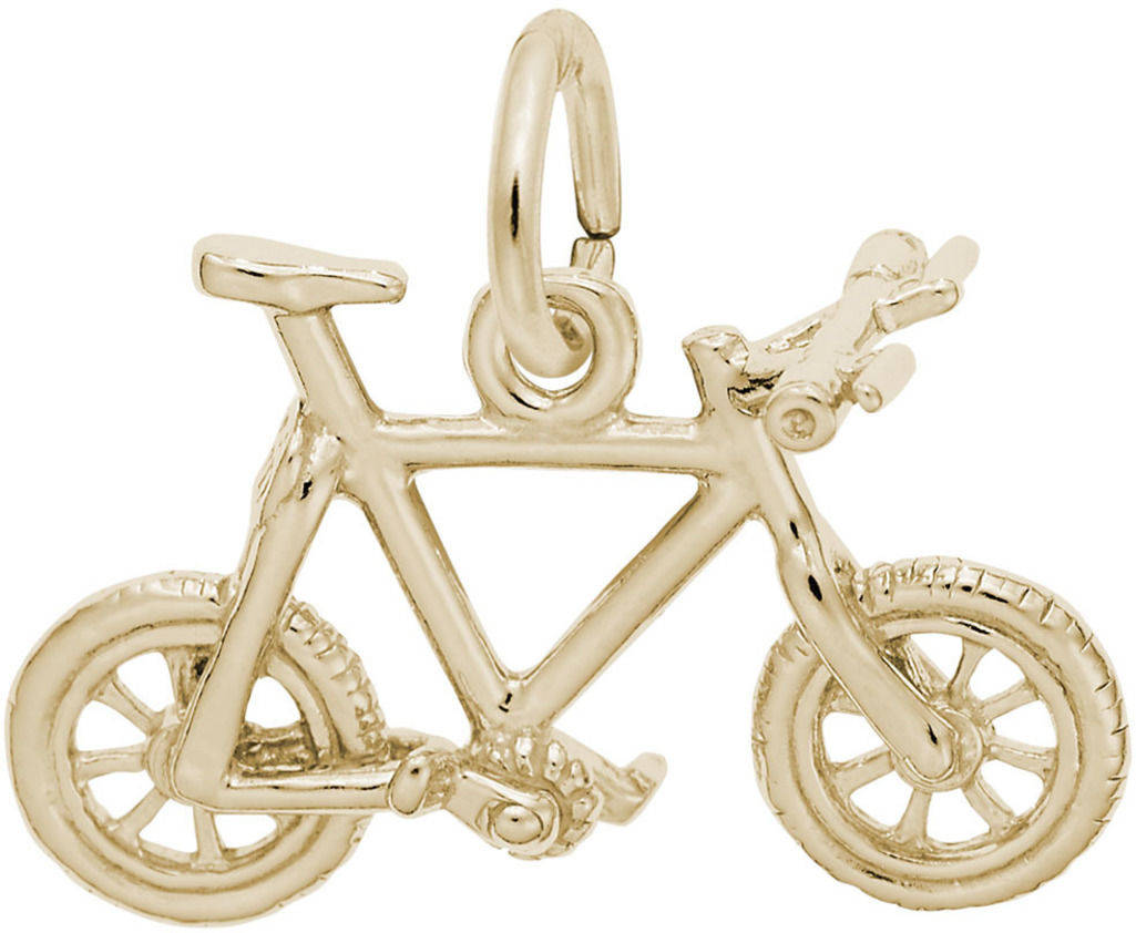 Mountain Bike Charm (Choose Metal) by Rembrandt