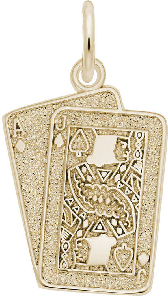 Black Jack Charm (Choose Metal) by Rembrandt