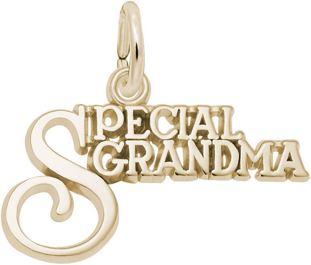 Special Grandma Charm (Choose Metal) by Rembrandt