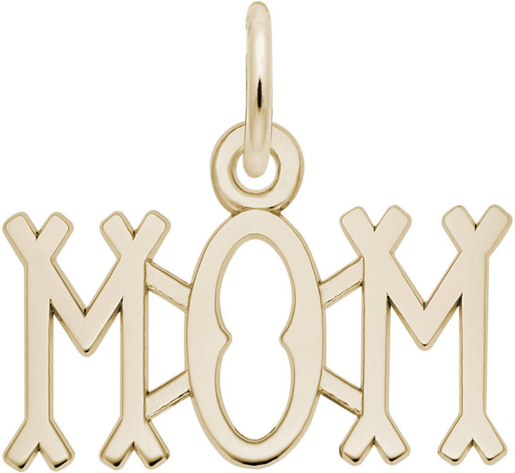Just For Mom Charm (Choose Metal) by Rembrandt