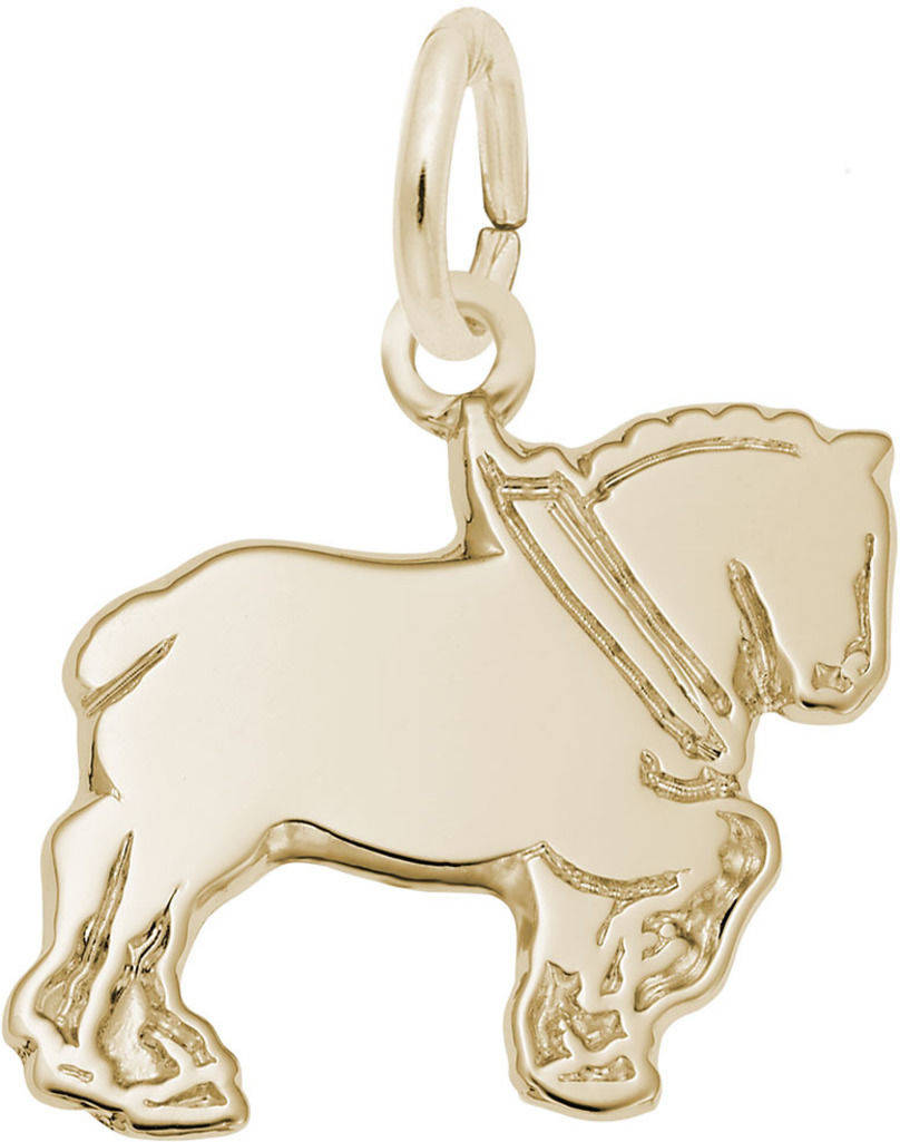 Flat Clydesdale Charm (Choose Metal) by Rembrandt