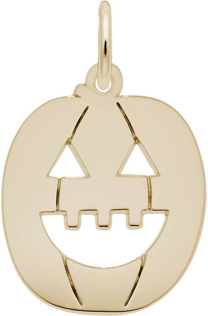 Flat Jack O Lantern Charm (Choose Metal) by Rembrandt