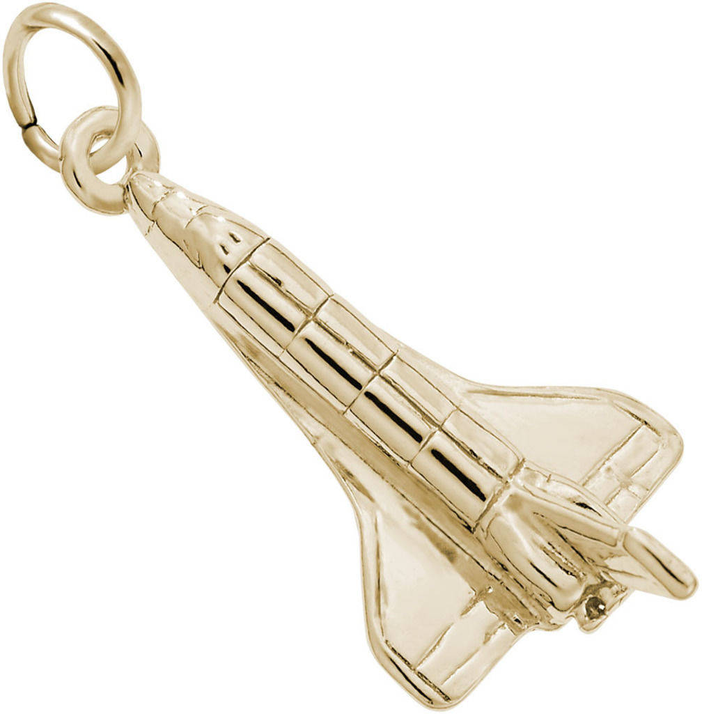 Space Shuttle Charm (Choose Metal) by Rembrandt