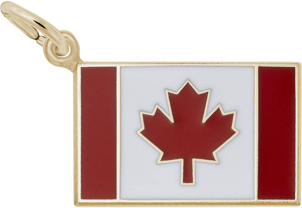 Enamel Canadian Flag Charm (Choose Metal) by Rembrandt