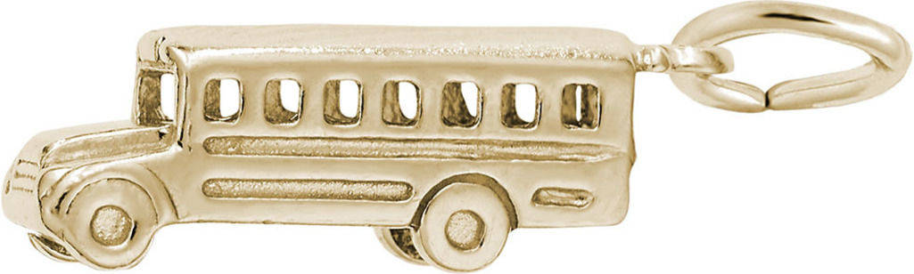 School Bus Charm (Choose Metal) by Rembrandt