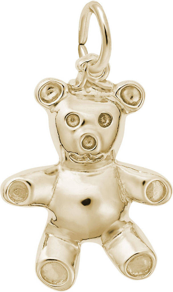 Stuffed Bear Charm (Choose Metal) by Rembrandt