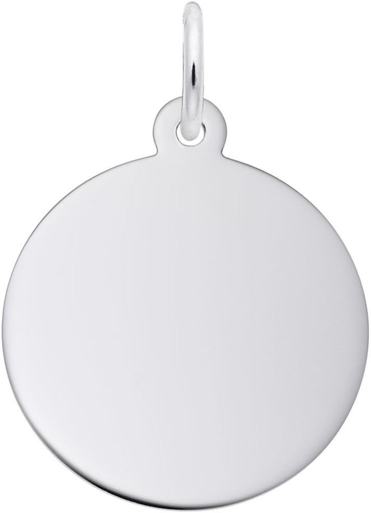 Classic Small Round Disc Charm (Choose Metal) by Rembrandt