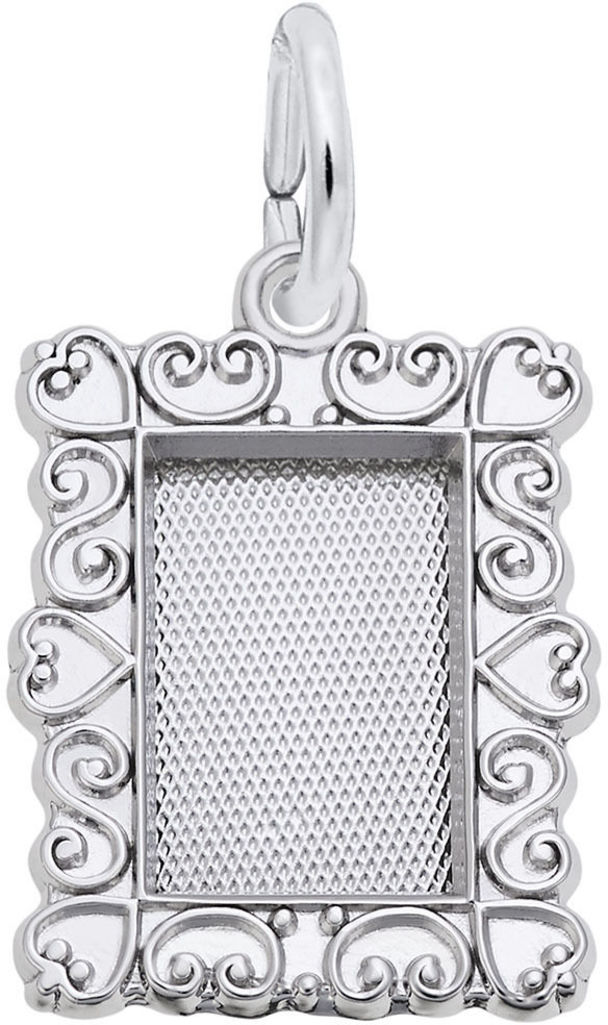 Scroll Frame Charm (Choose Metal) by Rembrandt