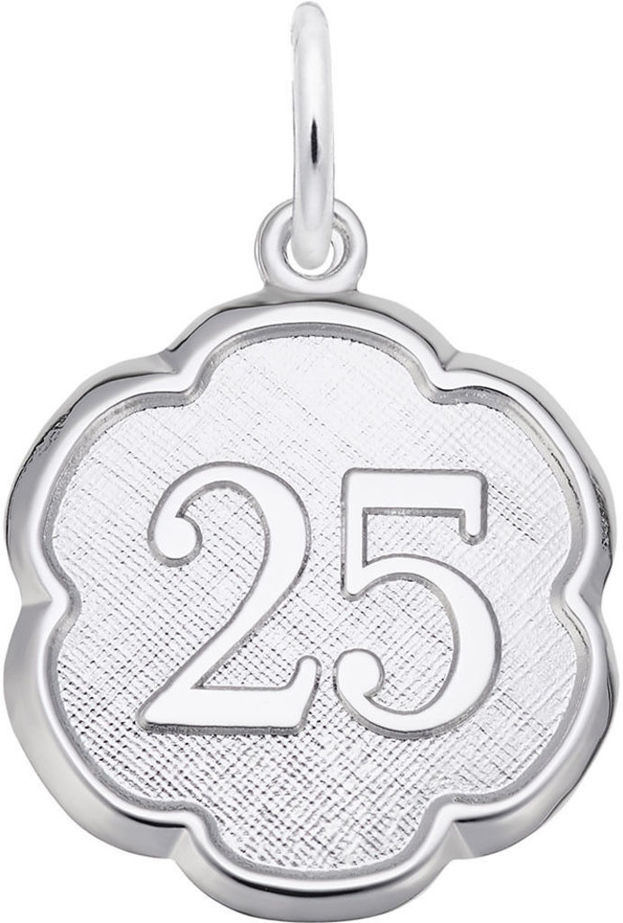 Number 25 Charm (Choose Metal) by Rembrandt