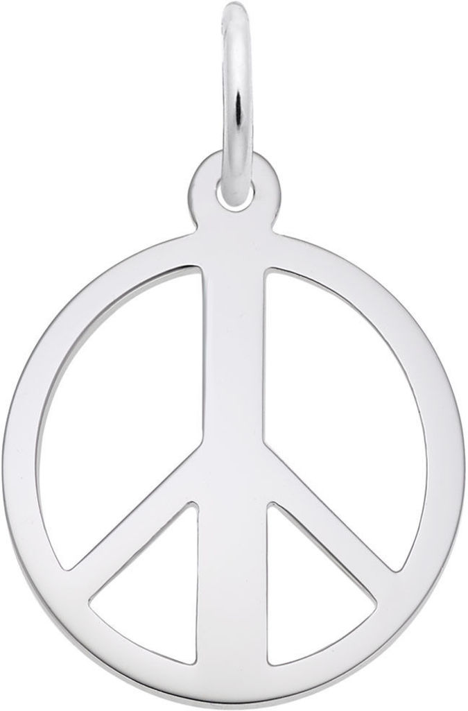 Peace Symbol Charm (Choose Metal) by Rembrandt
