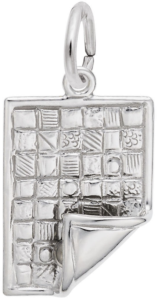 Quilt Charm (Choose Metal) by Rembrandt