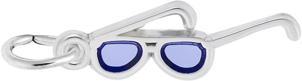 Blue Enamel Sunglasses Charm (Choose Metal) by Rembrandt