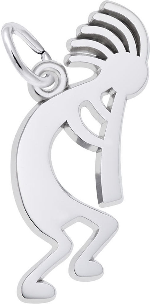 Kokopelli Charm (Choose Metal) by Rembrandt
