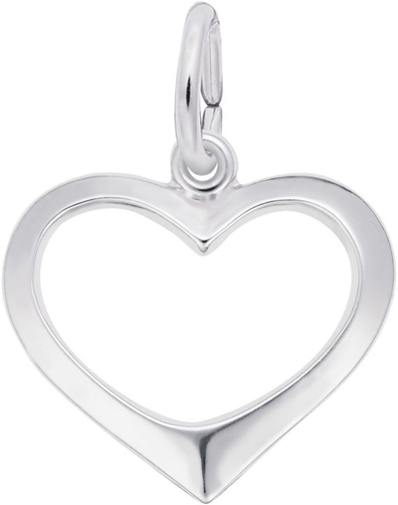 Open Heart Charm (Choose Metal) by Rembrandt