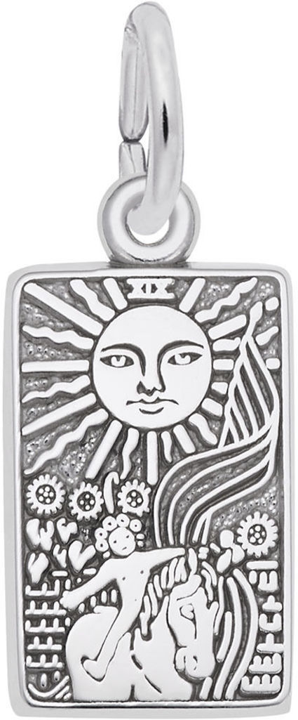 Tarot Card Charm (Choose Metal) by Rembrandt