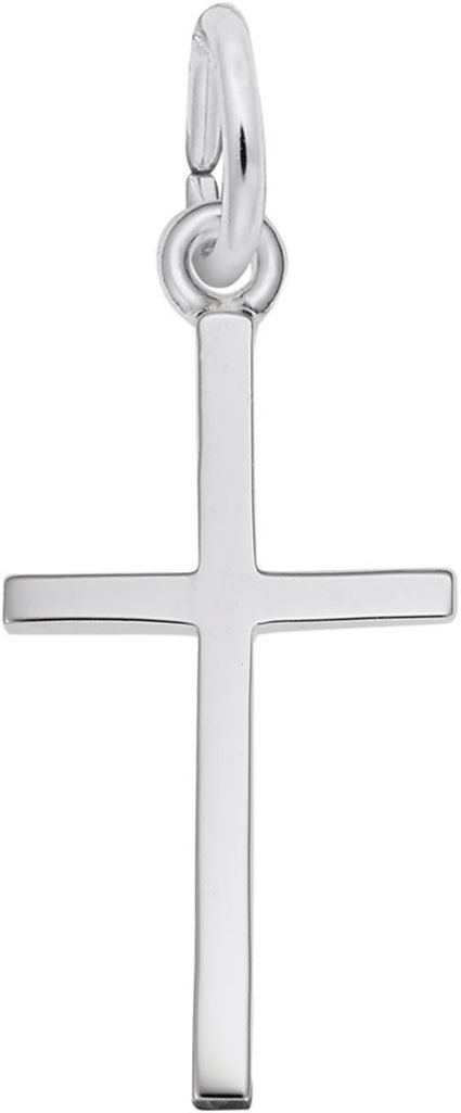Medium Thin Cross Charm (Choose Metal) by Rembrandt