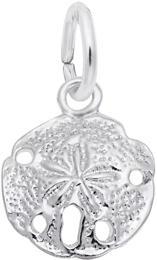 Detailed Sand Dollar Charm (Choose Metal) by Rembrandt