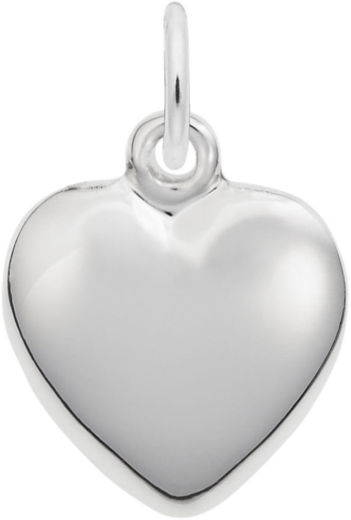 Puffy Heart Charm (Choose Metal) by Rembrandt